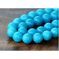 Sky Blue Mountain Jade Beads, 8mm Round