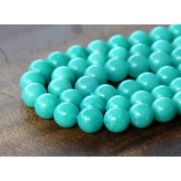 Teal Blue Mountain Jade Beads, 6mm Round