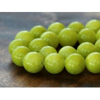 Chartreuse Mountain Jade Beads, 10mm Round