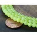 Chartreuse Mountain Jade Beads, 4mm Round