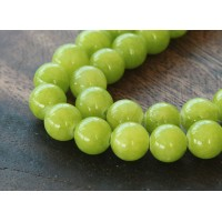 Chartreuse Mountain Jade Beads, 8mm Round
