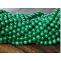 Dark Green Mountain Jade Beads, 4mm Round
