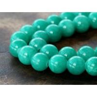 Sea Green Mountain Jade Beads, 8mm Round
