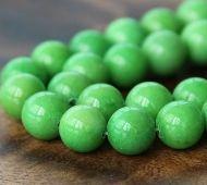 Apple Green Mountain Jade Beads, 10mm Round