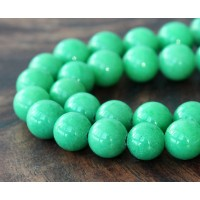 Pastel Green Mountain Jade Beads, 10mm Round