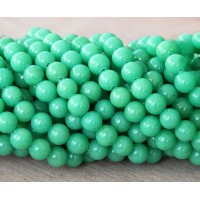 Pastel Green Mountain Jade Beads, 6mm Round
