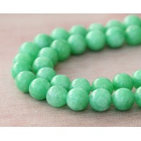 Pastel Green Mountain Jade Beads, 8mm Round