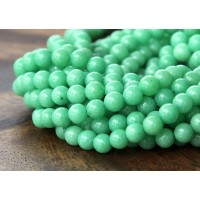 Mint Green Mountain Jade Beads, 4mm Round