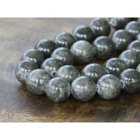 Grey Mountain Jade Beads, 10mm Round