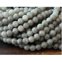 Grey Mountain Jade Beads, 4mm Round