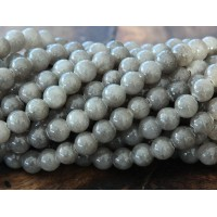 Grey Mountain Jade Beads, 6mm Round