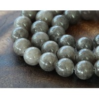 Grey Mountain Jade Beads, 8mm Round