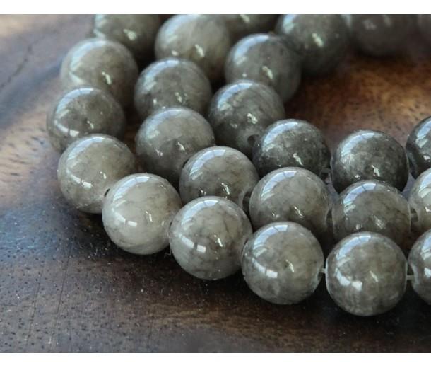Grey Mountain Jade Beads, 8mm Round