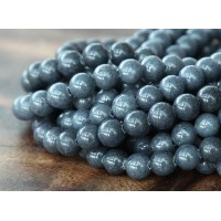 Steel Grey Mountain Jade Beads, 4mm Round