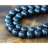 Anthracite Mountain Jade Beads, 6mm Round