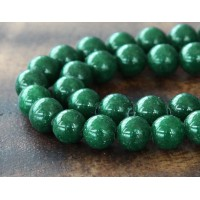 Dark Forest Green Mountain Jade Beads, 8mm Round