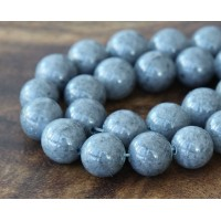 Mouse Grey Mountain Jade Beads, 12mm Round