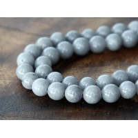 Mouse Grey Mountain Jade Beads, 8mm Round