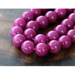 Magenta Mountain Jade Beads, 10mm Round