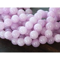 Lilac Mountain Jade Beads, 8mm Round