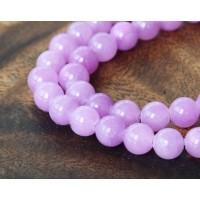 Light Orchid Mountain Jade Beads, 6mm Round