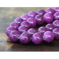 Grape Purple Mountain Jade Beads, 10mm Round