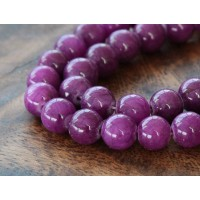 Grape Purple Mountain Jade Beads, 8mm Round