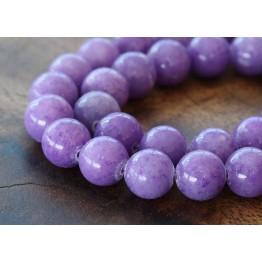 Lavender Mountain Jade Beads, 10mm Round