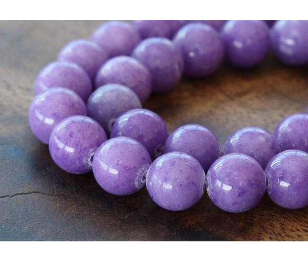 Lavender Mountain Jade Beads, 10mm Round