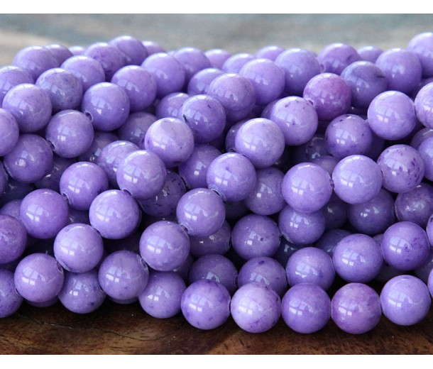 Lavender Mountain Jade Beads, 6mm Round