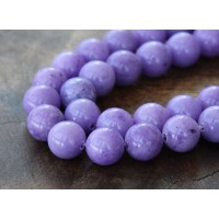 Lavender Mountain Jade Beads, 8mm Round