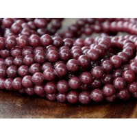 Chocolate Brown Mountain Jade Beads, 4mm Round