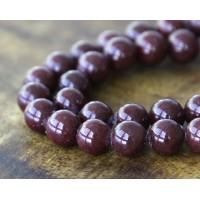 Chocolate Brown Mountain Jade Beads, 8mm Round