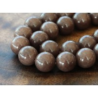 Coffee Brown Mountain Jade Beads, 10mm Round