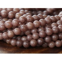 Coffee Brown Mountain Jade Beads, 4mm Round