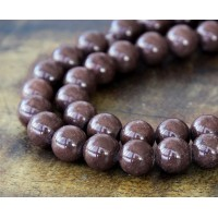 Coffee Brown Mountain Jade Beads, 8mm Round