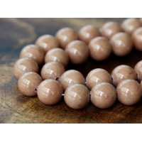 Cappuccino Brown Mountain Jade Beads, 10mm Round