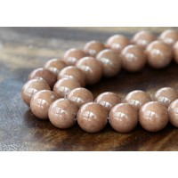 Cappuccino Brown Mountain Jade Beads, 8mm Round