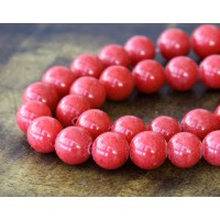 Berry Red Mountain Jade Beads, 8mm Round