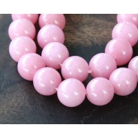 Light Mauve Mountain Jade Beads, 12mm Round