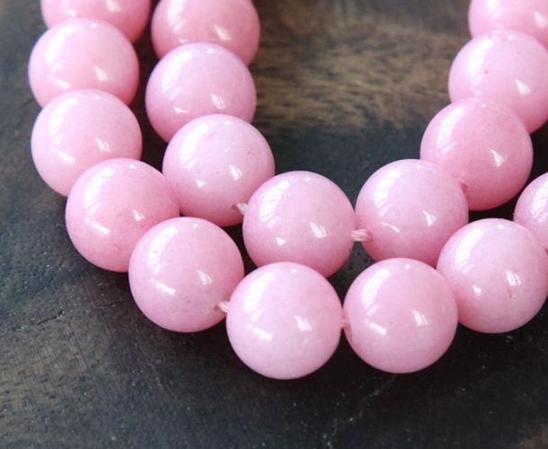 Light Mauve Mountain Jade Beads 10mm Round Golden Age Beads