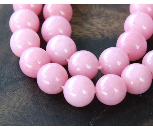 Light Mauve Mountain Jade Beads, 10mm Round