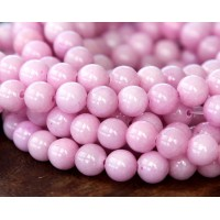 Light Mauve Mountain Jade Beads, 8mm Round