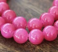 Berry Pink Mountain Jade Beads, 6mm Round