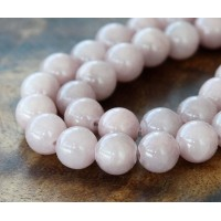 Rose Grey Mountain Jade Beads, 10mm Round