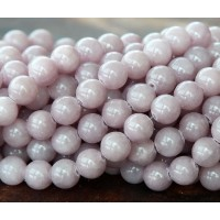 Rose Grey Mountain Jade Beads, 6mm Round