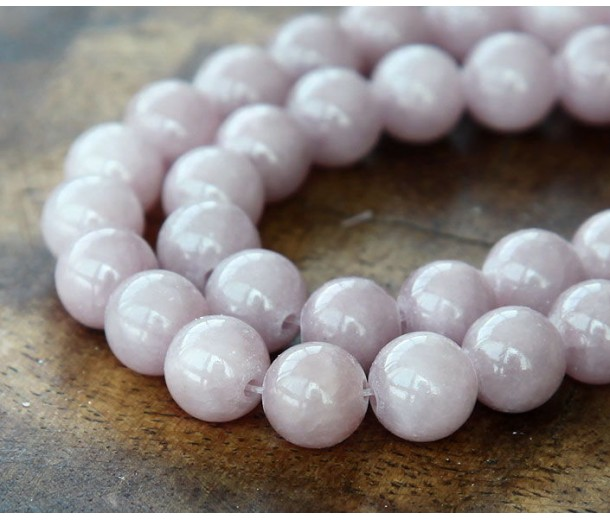 Grey Brown Mountain Jade Beads, 8mm Round