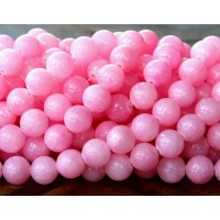 Light Fuchsia Mountain Jade Beads, 10mm Round