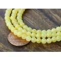 Yellow Mountain Jade Beads, 4mm Round