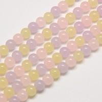 Pastel Mix Semi-Transparent Jade Beads, 8mm Round